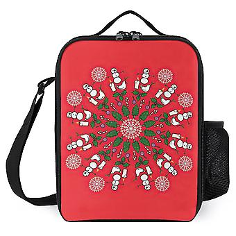 Christmas Mandala Printed Lunch Bags