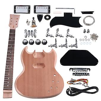 Mahogany Closed Double Coil Pickup Unfinished Electric Guitar Suits