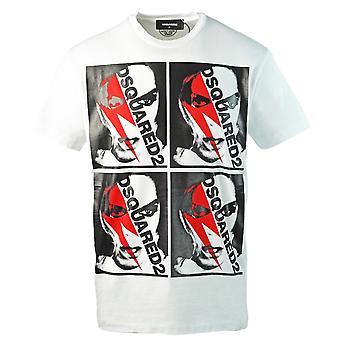 T-shirt bianca con logo punk Dsquared2