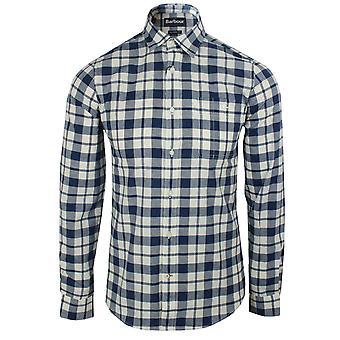 Barbour mens washed navy sealton shirt