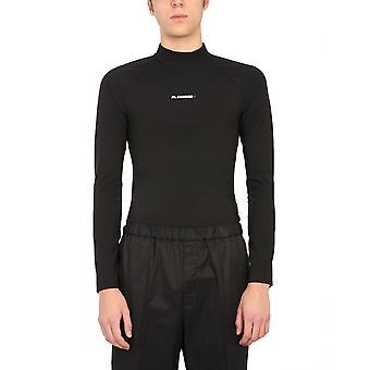 Jil Sander Jpus783525ms478008001 Men's Black Nylon T-shirt