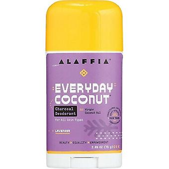 Alaffia Everyday Coconut Charcoal Deodorant Lavender