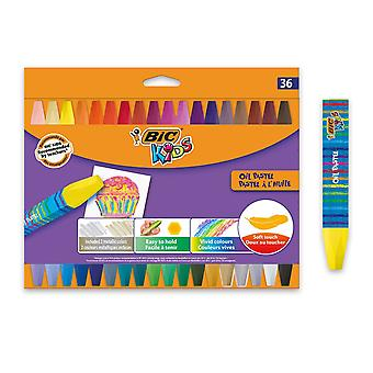 Bic kids oil pastels - assorted colours, pack of 36