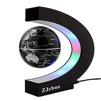 Zjchao valentines gifts levitating globe, c shape floating globe with led lights magnetic field levi