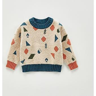 Vinter Baby Soft efterlignet Mink Uld Geometriske Mønster Trøjer