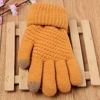 Touch Screen Sensitive, Winter Outdoor Sports Knitted Gloves