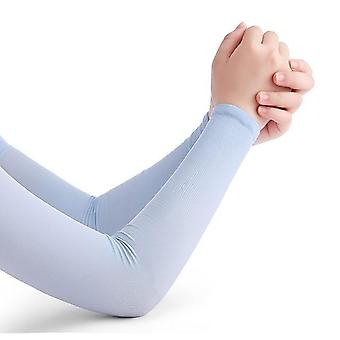 Running Arm Sleeves Ice Silk Sunscreen Sun-resistant Long Gloves Arm Warmers