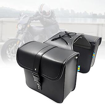 Motorcycle Saddle Harley Sportster Pu Leather Side Tool Bag