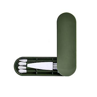 4kpl uudelleenkäytettävä puuvilla kaksipäinen silikoni, puhdistusharjalaatikko meikkiä varten
