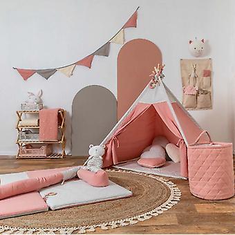 Autêntico Teepee Play Tenda Muslin Pink