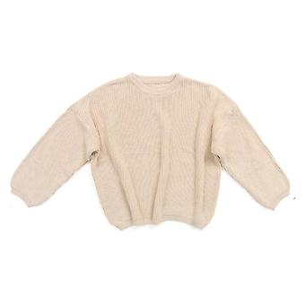 Baby Knitted Long Sleeve Sweater Solid Loose Pullover Casual Tops