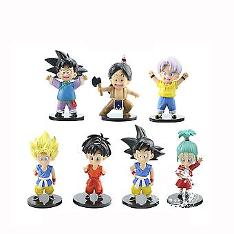 7pcs Dragon Ball Figure Toy Cool Anime Doll Model