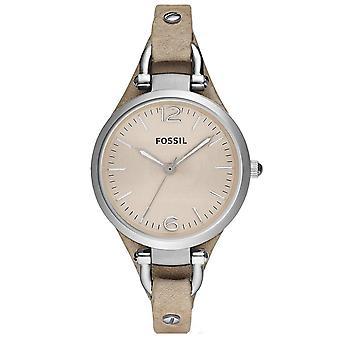 Fossil ES2830 Georgien Beige Dial Sand Tan Læder Ladies Watch