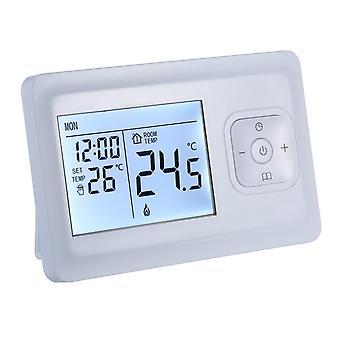 Lcd digital calefacción termostato programable montado en la pared horno wifi