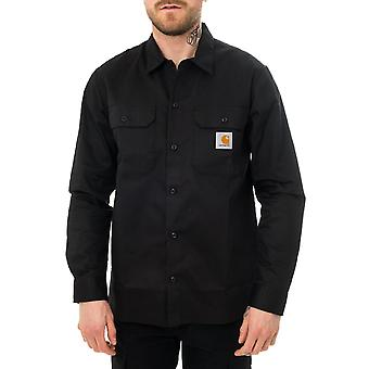 Chemise homme carhartt wip l/s master shirt noir i027579.89
