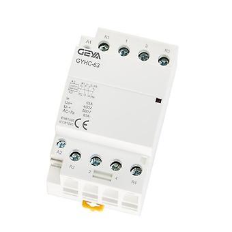 Geya 4p 63a 4no Or 2nc2no 220v/230v 50/60hz Din Rail Household Ac Modular