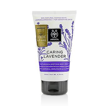 Apivita huolehtiva laventeli kosteuttava & rauhoittava vartalo voide-herkälle iholle 150ml/4.74 oz