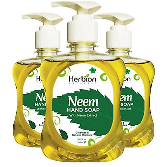 Herbion Naturals Neem Hand Soap with Neem Extract – 8.45 FL Oz – 250 ml - (Pack of 3)