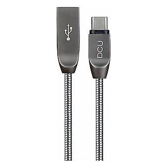 USB A auf USB C Kabel DCU Silver