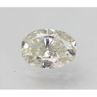 Sertifioitu 0,69 karat H SI1 soikea parannettu luonnollinen löysä timantti 6,69x4,82mm