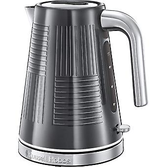 DZK 25240 Geo Steel Cordless Electric Kettle - Contemporary Design with Rapid Boil, Textured