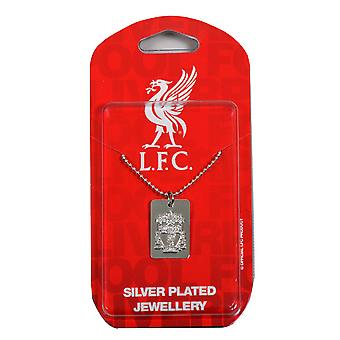 Liverpool FC Official Silver Plated Football Crest Dog Tag & Chain