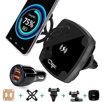 FengChun 10W Qi Caricatore Magnetico Senza Fili per Auto,Supporto per Telefono con Presa d'Aria,