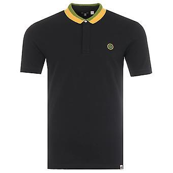 Pretty Green Island Tilby Contrast Collar Polo Shirt - Black