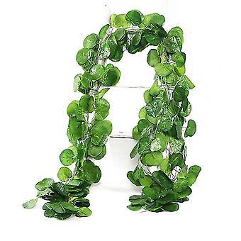 36Pcs 2.2m hitom leaf fake garland greenery decor faux green hanging plant vine x1446