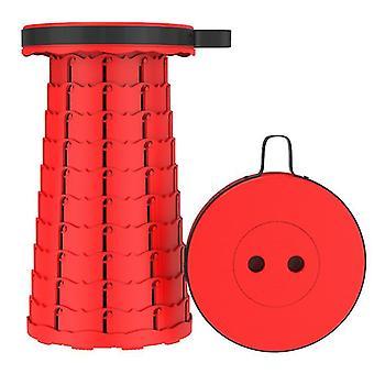 Tabouret télescopique pliant extérieur rouge, tabouret en plastique portable pour le camping et la pêche az16309