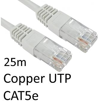 RJ45 (M) to RJ45 (M) CAT5e 25m White OEM Moulded Boot Copper UTP Network Cable