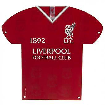 Liverpoolin vaakunapaidan muotoinen metallimerkki