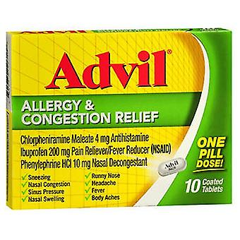 Advil Advil Allergy Congestion Relief Coated Tablets, 10 Tabs