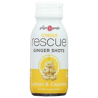 Ginger People Shot Rescue Lmn Cyne Gngr, Case of 12 X 2 Oz