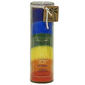 Aloha Bay Candle Chakra Jar, Unscented 7 Color, 16 Oz