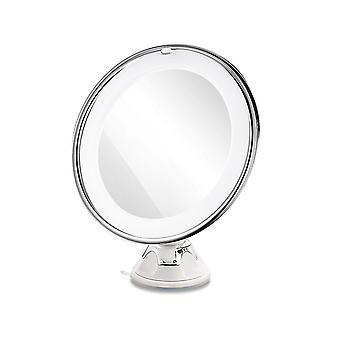1pcs 10x Utility Suction Cup Round Led Durable Cosmetic Mirror For Shower Room