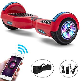 """الاشياء المعتمدة® الكهربائية E-سكوتر Hoverboard مع مكبر صوت بلوتوث - 6.5 """" - 500W - بطارية 2000mAh - التوازن تحوم المجلس الأحمر"""