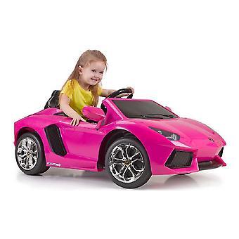 Children's Electric Car Lamborghini Aventador Feber Battery 6 V Pink (126 x 68 x 50 cm)