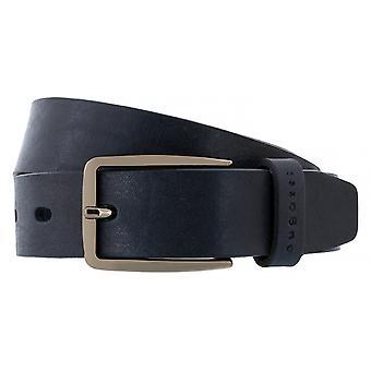 Bugatti belts men's leather belts men's belts full cowhide leather, Navy/Blue 4447