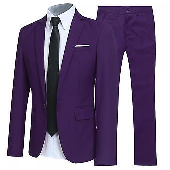 Silktaa Herenpakken One Button Slim Fit 2-delig Suit Blazer&pants