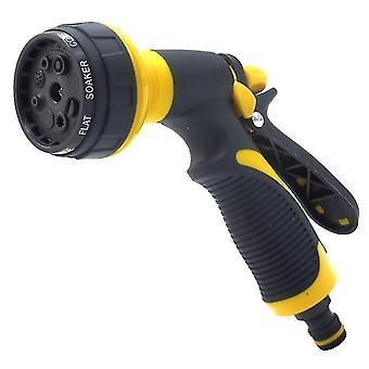 Tuyau de pelouse multifonctions Pulvérisateur haute pression arrosage de jardin pistolet de pulvérisation (jaune)