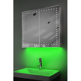 Demist kabinett med LED Under belysning, Sensor & interne barbermaskinen k359