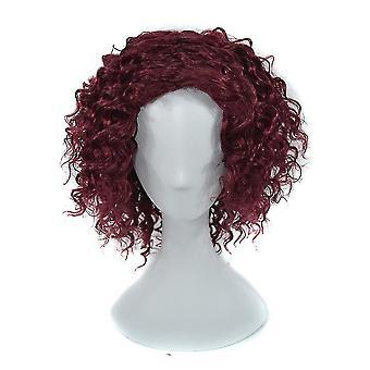Shortbobo Curl Vlasy Parochňa Sivá Čierna Pre ženy