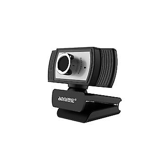 Aoni C33 Beauty Fhd 1080p Iptv Webcam Teleconference Teaching Live Broadcast Computer Camera With Microphone, Drive-free Plug And Play(black)