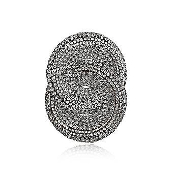 Bross pin eltúlzott geometria fűző teljes gyémánt ötvözet női bross