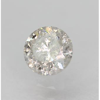 Sertifioitu 0,41 karat E Väri SI3 Pyöreä Brilliant Natural Loose Diamond 4,64mm