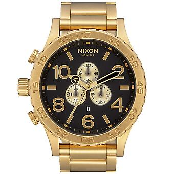 Nixon A083-510 Mens 51-30 Chronograph Black & Gold Stainless Steel Watch