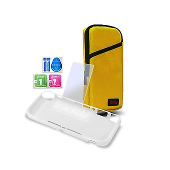 Home game console accessories carrying case plus protective case cover portable carrier travel bag case for switch lite-yellow