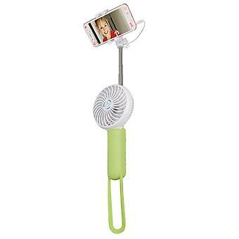 Pt-819 Kannettava Matka Laajennettava Selfie-keppi tuulettimen universaalilla kämmentietokoneella