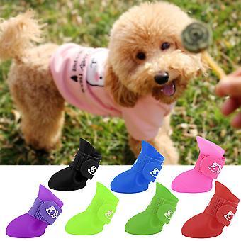 Kreative Haustier Hunde schöne komfortable wasserdichte Pvc Stiefel weichen Regen Schuhe